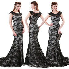 Black Mermaid Dress Long Lace Ball Dress Evening Formal Party Gown Prom Dresses