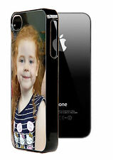 Personalised photo iphone5 5s black hard case. Any image, logo and text