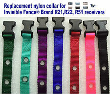 "Invisible Fence Brand R21 R22 R51 Replacement Nylon Collar 3/4"" 2 Hole NEW 1 5/8"