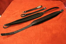 New Deluxe Velour Leather Accordion Straps Black Assorted Sizes Made in Italy