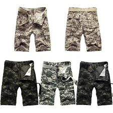 New Mens Cargo Shorts Camo Army Trousers Combat Work Short Pants Summer T3P0