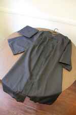 "Oak Hall Black Graduation Cap and Gown 5' - 5'2"" - Used"