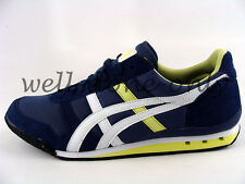Asics Onitsuka Tiger Ultimate 81 dark blue navy lime green vegan mens shoes NIB