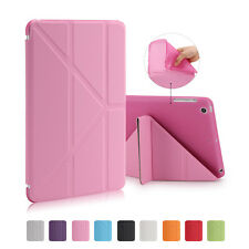 Magnetic Ultra Slim Leather Smart Cover TPU Back Case For Apple iPad Air 2 Mini
