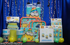 Despicable Me 2 Party Set # 18 Party Supplies For 16 Tablecover Plates Napkins