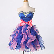BEADED Short Prom Homecoming Evening Wedding Gowns Formal Bridesmaid Party Dress