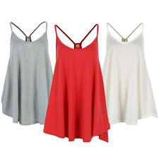 Women Summer Sexy Irregular Strappy Tank Tops Vest Sleeveless Loose Shirt Blouse