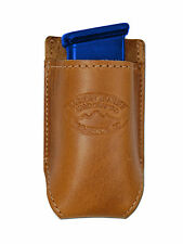 NEW Barsony Tan Leather Single Magazine Pouch Smith & Wesson Compact 9mm 40 45
