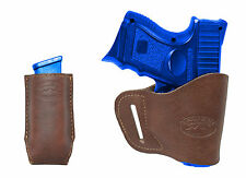 New Barsony Brown Leather Yaqui Holster + Mag Pouch Walther Steyr Comp 9mm 40 45
