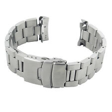 StrapsCo Stainless Steel Mens Curved End Watch Band Bracelet for Seiko Oyster
