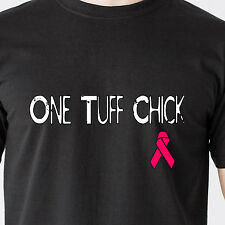 One Tuff Chick boobs Cancer cure breast 25% Donation to Leukemia Funny T-Shirt