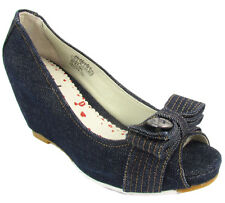 "KILLAH ""Pin Up Miss Sixty Jeans Keil"" plateau heels pumps shoes (navy) NEW"