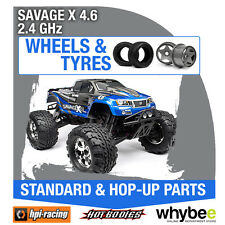 HPI SAVAGE X 4.6 2.4GHz [Wheels & Tyres] Genuine HPi 1/8 R/C Scale!