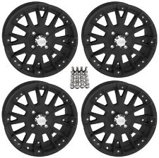 "QuadBoss SCOVILLE BOSS ATV Wheels/Rims Black 15"" (5+2)  Sportsman RZR Ranger"