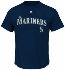 Seattle Mariners MLB Mens Majestic Official Wordmark Shirt Big & Tall Sizes