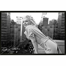 HOME DECOR WALL ART Contemporary Hanging Design Plaque Marilyn (36 x 24) Black