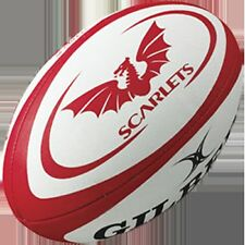 Gilbert Official Scarlets Pro 12 League Durable Rugby Replica Balls Size 4 & 5