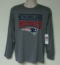 New England Patriots NFL Youth Boys Gray Long Sleeve Poly T-Shirts: L-XXL