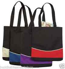 Fashion Two Tone Curve Reusable Grocery Shopping Tote Totes Bag Bags 15 x 13
