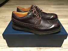 Cole Haan LunarGrand Long Wing Tip Leather T-Moro Brown Men's C13739 Brand New