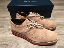 Cole Haan LunarGrand Long Wing Tip Waterproof Milkshake Suede Men's C10228 NIB