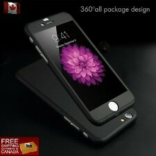 360° Full Body Ultra Thin Hard Case Cover+Tempered Glass Screen iphone 6/6s & 7