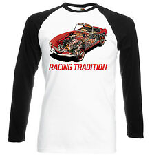 GERMAN CAR  507 CUTAWAY  INSPIRED  - BLACK SLEEVED BASEBALL TSHIRT S-M-L-XL-XXL