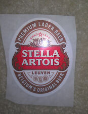 BEER Sticker Stella Artois 2.5 by 3 inches lager sign label