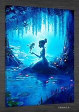 Oil Painting HD Print Art on Canvas,The Princess and the Frog (Unframed) 1PCS