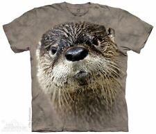 North American River Otter Mountain T-Shirt-Adult S-3X &Child S-XL