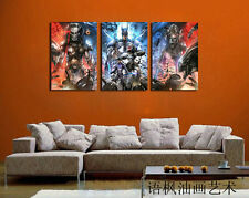 Original Oil Painting HD Print Wall Decor on Canvas,Batman Hero (Unframed) 3PCS