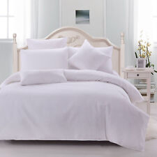 Ardor 100% Cotton Waffle Weave Doona Quilt Cover Set | Snow | 5 Bed Sizes