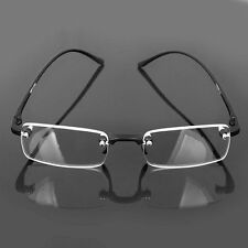 Superb Quality Rimless Reading glasses/ Spring Hinges & Classic Style Design New