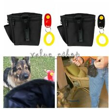 Dog Pet Puppy Reward Obedience Treat Training Bait Clicker Ball Pouch Waist Bag