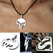 Hero Stainless Steel Superman Batman Punisher Flash Necklace Pendant Fashion