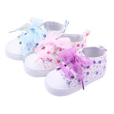 1x  Baby Boots Girls Lace Up Soft Sole Crib Sneakers Shoes Toddler Shoes BD