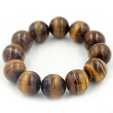 New Natural Tiger Eye Stome Gems Round Beads Bracelet Bangle Jewelry Gift 8-20MM