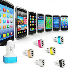 Universal 3 Port Mini Dual USB Car Charger Adapter Bullet For iPad 3G Air iPhone