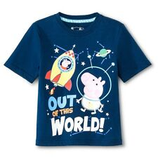 NEW Toddler Boys' Peppa Pig Tee Shirt - Blue  Size 2T-3T-4T