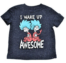 Dr. Seuss Cat In The Hat I Wake Up Awesome Toddler Baby T-Shirt