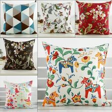 Retro Square Flower Floral Throw Pillows Case Cushion Cover Home Sofa Decoration