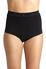 Womens Ladies Underwear Black Seam Free High Waist Shapewear Control Briefs