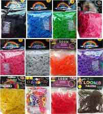 Loom Bands Refill 300/ 600 Bands & 24 S Clips choose from 12 colours Loom Bandz