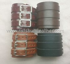 Leather Black Brown Tan, Maroon 3 strap wrist band cuff Depp Elliott smith steam
