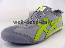 Asics Onitsuka Tiger Mexico 66 SLIP-ON grey lime green laceless vegan shoes NIB