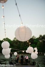 "5X 10X Round White Chinese Paper Lanterns Lamp 8"",10"",12"",16"" Wedding Party USA"