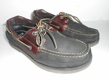 Sperry Top-sider Stingray Black/Amaretto Leather Loafers Boat Men Shoes sz 8M