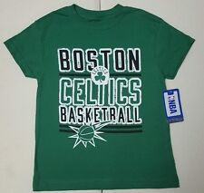Boston Celtics NBA Boys Green Short Sleeve Team Graphics T-Shirt: XS 4-5