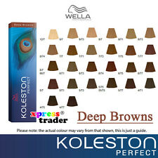 Wella Koleston Perfect Permanent Hair Color Dye 60g - Deep Browns Series