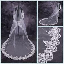 High Quality Lace Bridal Veils 2.8Meters Wedding Accessories White/ivory veil